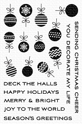 My Favorite Things - Clear Stamp - Ornament Banner Builder