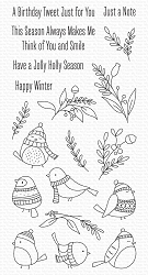 My Favorite Things - Clear Stamp - Winter Songbird
