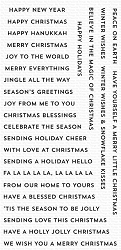 My Favorite Things - Clear Stamp - Bitty Holiday Wishes