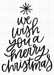 My Favorite Things - Clear Stamp - We Wish You a Merry Christmas
