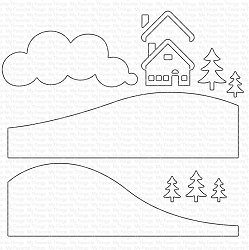 My Favorite Things - Die-namics - Snowy Scene Builder