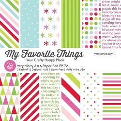 My Favorite Things - Very Merry 6x6 paper pad