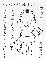 My Favorite Things - Clear Stamp - Pure Innocence Book in Hand