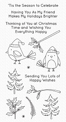 My Favorite Things - Clear Stamp - Christmas Cardinals