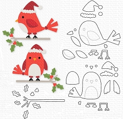 My Favorite Things - Die-namics - Holly Jolly Cardinals
