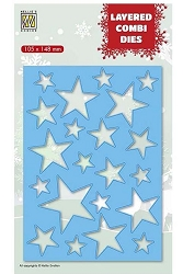 Nellie Snellen's - Layered Combi Dies - Rectangle Stars A