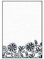 Nellie Snellen Embossing Folder - Flower Border 1