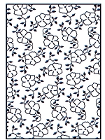 Nellie Snellen Embossing Folder - Small Flowers 1