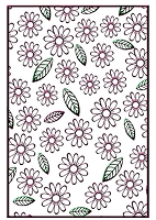Nellie Snellen Embossing Folder - Flowers & Leaves