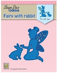 Nellie Snellen's - Shape Die - Fairy with Rabbit