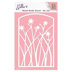 Nellie Snellen's - Frame with Flowers Stencil