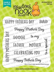 Newton's Nook - Clear Stamp - Mom & Dad