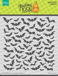 Newton's Nook - 6x6 Stencil - Flying Bats