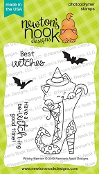 Newton's Nook - Clear Stamp - Witchy Newton