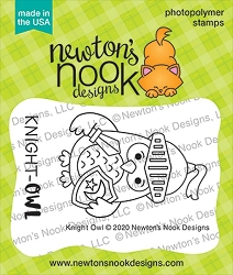 Newton's Nook - Clear Stamp - Knight Owl