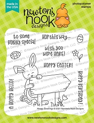 Newton's Nook - Clear Stamp - Hoppy Greetings