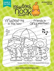 Newton's Nook - Clear Stamp - Newton's Rainy Day Trio