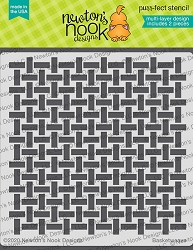 Newton's Nook - Basketweave Stencil