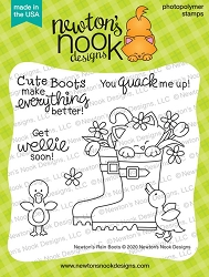 Newton's Nook - Clear Stamp - Newton's Rain Boots