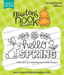 Newton's Nook - Clear Stamp - Hello Spring