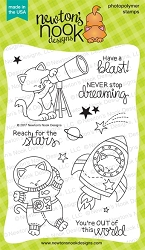 Newton's Nook - Clear Stamp - Cosmic Newton
