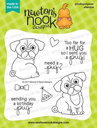 Newton's Nook - Clear Stamp - Pug Hugs