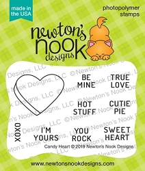 Newton's Nook - Clear Stamp - Candy Heart