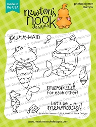 Newton's Nook - Clear Stamp - Purr-maid Newton