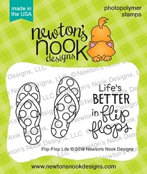 Newton's Nook - Clear Stamp - Flip-Flop Life