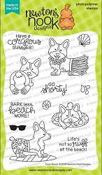 Newton's Nook - Clear Stamp - Corgi Beach