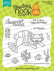 Newton's Nook - Clear Stamp - Scuba Newton