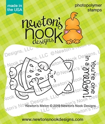 Newton's Nook - Clear Stamp - Newton's Melon