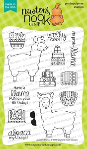 Newton's Nook - Clear Stamp - Loveable Llamas