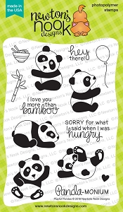 Newton's Nook - Clear Stamp - Playful Pandas
