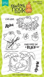 Newton's Nook - Clear Stamp - Aloha Newton