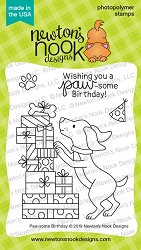 Newton's Nook - Clear Stamp - Paw-some Birthday