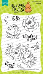 Newton's Nook - Clear Stamp - Peony Blooms