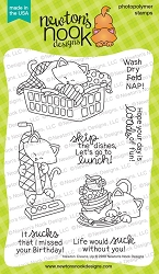Newton's Nook - Clear Stamp - Newton Cleans Up