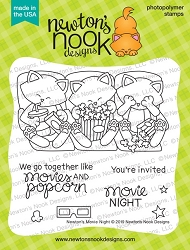 Newton's Nook - Clear Stamp - Newton's Movie Night