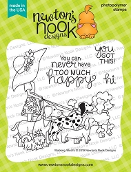 Newton's Nook - Clear Stamp - Walking Woofs