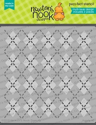 Newton's Nook - 6x6 Stencil Set - Argyle (set of 2 stencils)