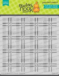 Newton's Nook - 6x6 Stencil Set - Plaid (set of 2 stencils)