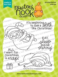 Newton's Nook - Clear Stamp - Slothy Christmas