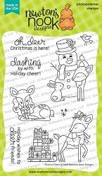 Newton's Nook - Clear Stamp - Festive Fawns