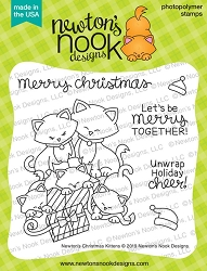 Newton's Nook - Clear Stamp - Newton's Christmas Kittens
