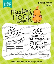 Newton's Nook - Clear Stamp - Purr-fect Present