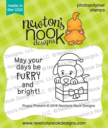 Newton's Nook - Clear Stamp - Puppy Present