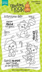 Newton's Nook - Clear Stamp - A Kitten Christmas