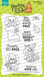 Newton's Nook - Clear Stamp - Christmas Puppies