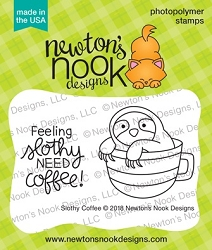 Newton's Nook - Clear Stamp - Slothy Coffee